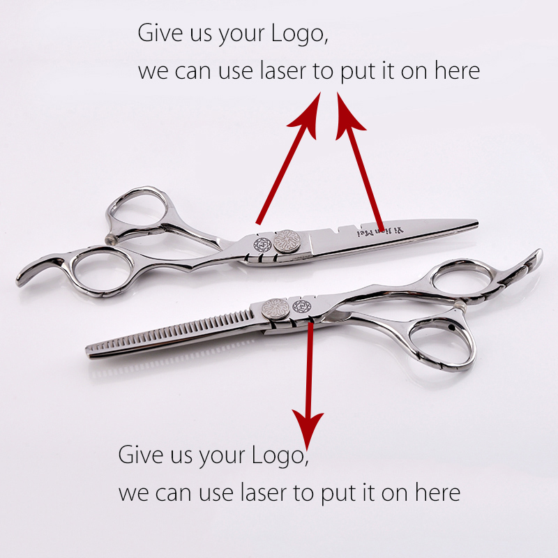 Customizable Professional 6inch Thinning Cutting Scissors with bags Hair Styling Tools flat Screw customized Logo 10 sets 30 teeth thinning scissors thinning shears japan quaity 6 thinning scissors for hair salon s styling use