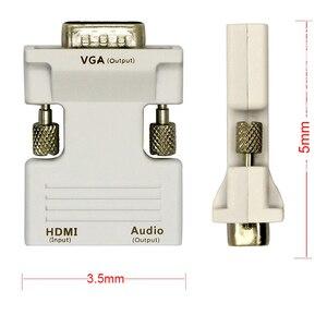 Image 5 - Amkle HDMI To VGAแปลงอะแดปเตอร์HDMIชายหญิงVGA VGA Audio Video Converter 1080PสำหรับPCแล็ปท็อปทีวีโปรเจคเตอร์