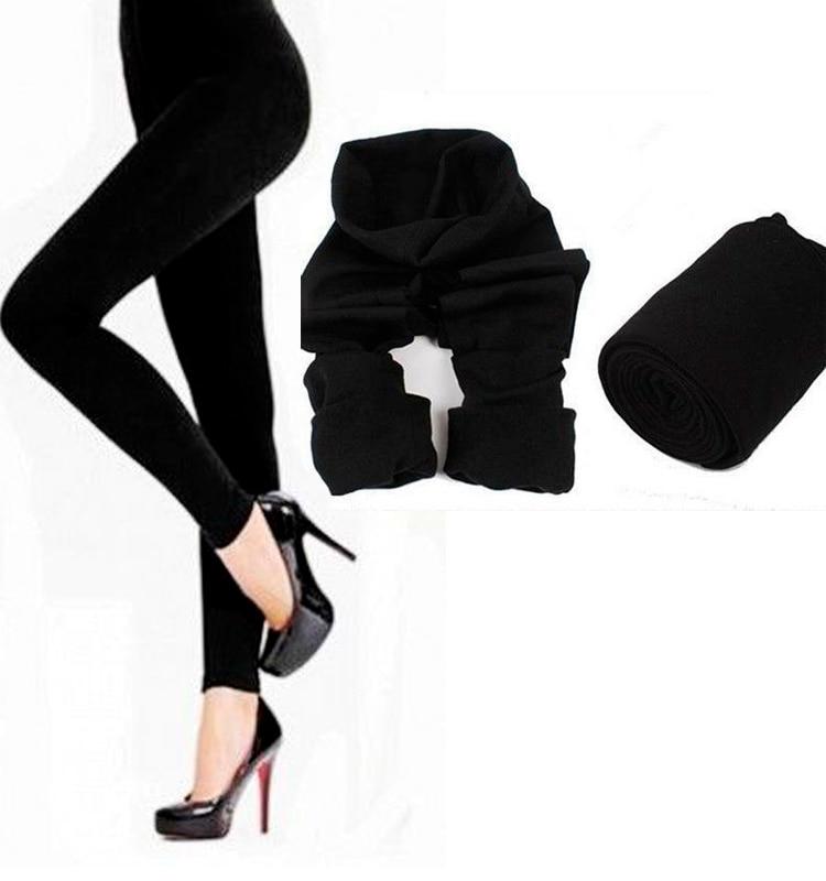 2018 Fashion Winter Leggings For Women Slim Fit Casual Warm Faux Velvet Legging Thick Super Elastic Thick Leggings Black Female
