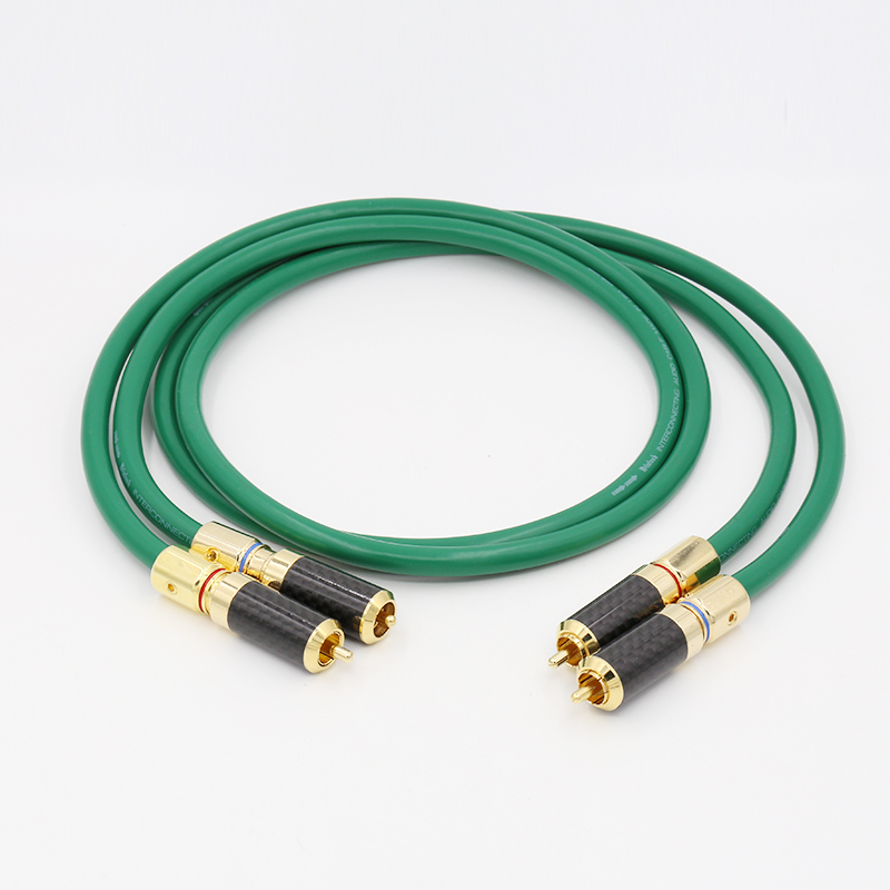 <font><b>McIntosh</b></font> <font><b>2328</b></font> OCC copper Silver plated audio RCA Hi Fi Cable Carbon Gold RCA Connector Audio RCA cable image