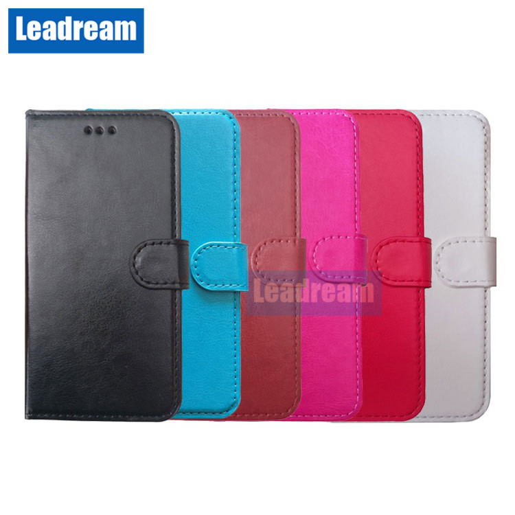 100PCS PU Leather Wallet Case Cover with Card Slot Flip Cover Shell for iPhone 5s 6