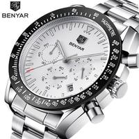 BENYAR 2018 New Fashion Chronograph Sport Watches Men High Quality Business Quartz Stainless Steel Men S
