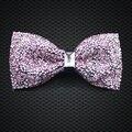 LF-204 Горячая мужская Мода Ярко-Розовый Кристалл Боути роскошный Регулируемая Галстуки Для Партии Бизнес Свадьба Жених Бесплатная Доставка