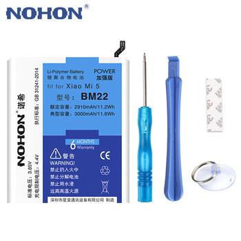 NOHON BM22 BM35 BM36 BM45 BM46 bateria do Xiaomi mi 5 4C 5S Mi5 Mi4C Mi5S Redmi Note 2 3 Pro wymiana baterii + Darmowe narzędzia tanie i dobre opinie EMC MSDS PCT KC RoHS CE WEEE 2801mAh-3500mAh Z Nohon Zgodny Bateria litowo-polimerowa Dla Xiaomi mi 5 MI 4C MI 5s Redmi Note 5 Redmi