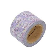 Купить с кэшбэком Unicorn Washi Tape Masking Cinta Scrapbooking DIY Fita Decorativa Washitape Papel Do Scrapbook Cintas Kawai Fitas Stickers