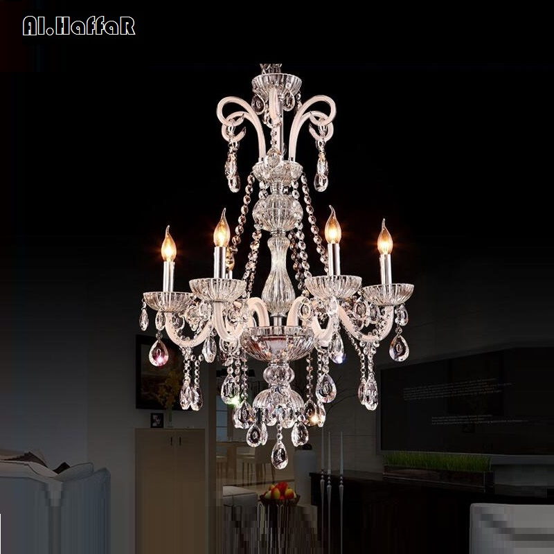 Image 4 - Chandelier Modern crystal chandeliers Livingroom Bedroom indoor lamp K9 crystal lustre de teto ceiling chandelier LED lights-in Chandeliers from Lights & Lighting