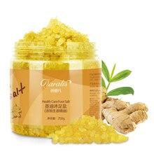Daralis Foot Bath Crystal Ginger Essence Bubble Bath Powder Body Skin Care SPA Bath Salt Exfoliation Dead Skin Remover