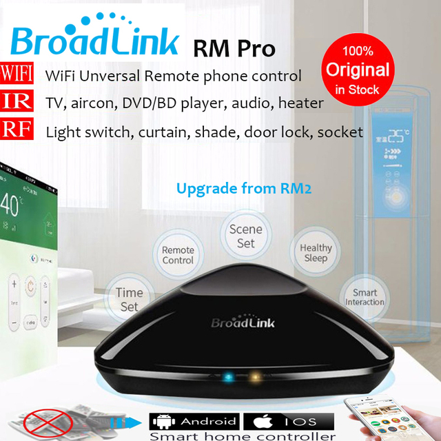 Nueva rm pro rm2 broadlink casa inteligente de automatización, universal controlador inteligente, wifi + ir + rf interruptor remoto control a través de ios android
