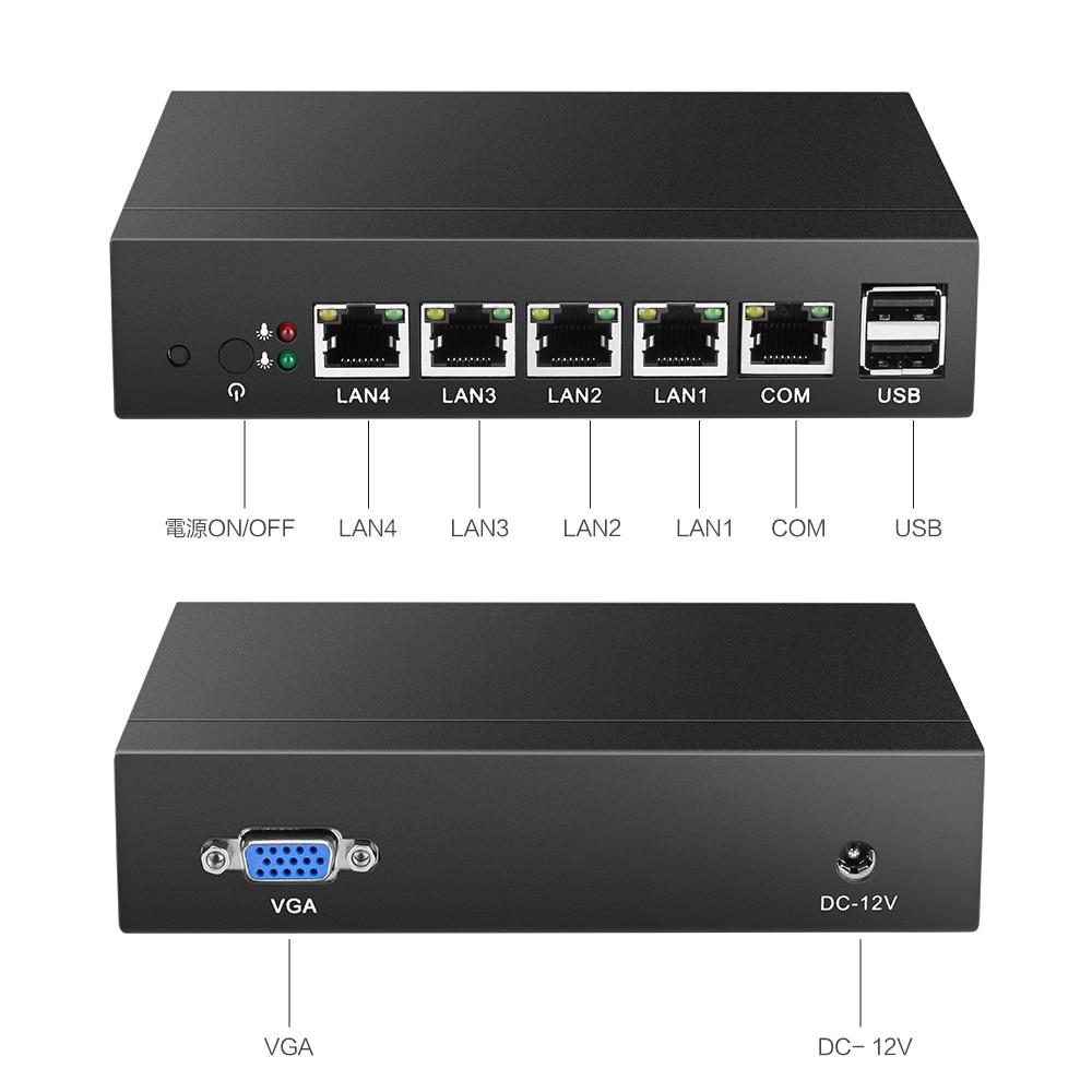 Mini PC 4 LAN Router Cortafuegos J1800 Celeron J1900 Procesador Quad - Mini PC - foto 6