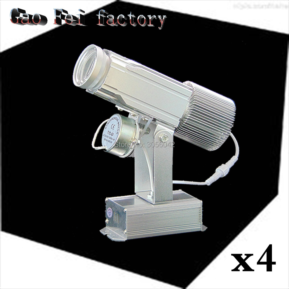 4PCS/LOT Logo Projector High Wattage Gobo Project Stage Professional Lighting Unit Shop Image Restaurant Mall Hotel Bar 2pcs lot logo project lens shop light mall restaurant custom logo projector projection log bar disco advertising led