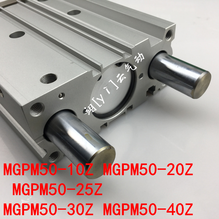 MGPM50-10Z MGPM50-20Z  MGPM50-25Z MGPM50-30Z MGPM50-40Z MGPL  Pneumatic components  Thin three Rod Guide Pneumatic CylinderMGPM50-10Z MGPM50-20Z  MGPM50-25Z MGPM50-30Z MGPM50-40Z MGPL  Pneumatic components  Thin three Rod Guide Pneumatic Cylinder
