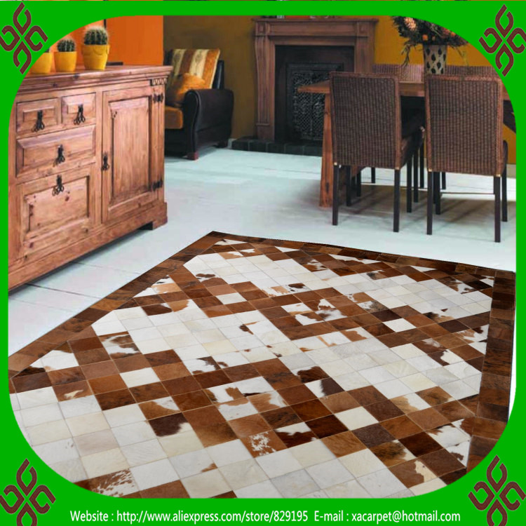 2017 Free Shipping 100% Natural Genuine Cowhide Egyptian Rugs