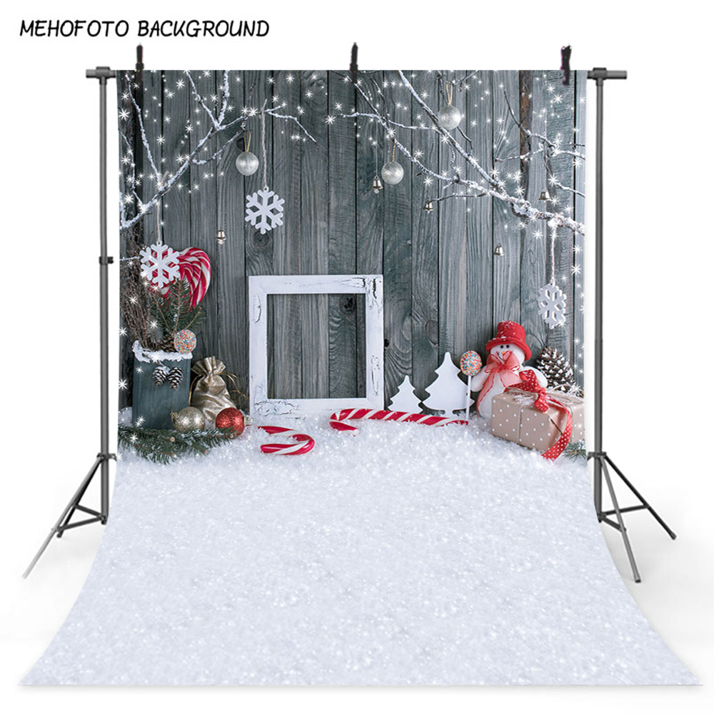 5x7FT Snow Wood Floor White Theme Vinyl Studio Photography Backdrop Photo Backgr