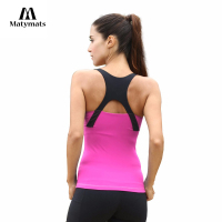 Matymats Women Yoga Vest Fitness Running Sport Sleeveless Tops Quick Dry Gym Workout Sport Shirt Sexy Women T shirt