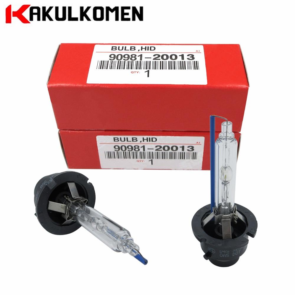 цена на 2pcs Xenon D4S D4R D2S D2R HID Bulb Lamp For Toyota 90981-20013 90981-20029 90981-20005 90981-20008 4300K 6000K 35W 12V