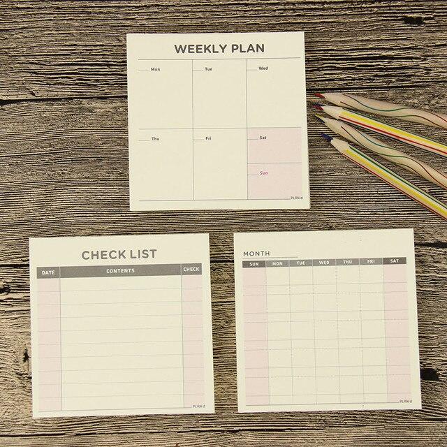 1PC Mini hebdomadaire mensuel Plan de travail livre Filofax cahier pour les enfants à apprendre papeterie cadeaux