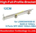 New Bracket 1PCS-High Bracket for LSI00344/9300-8i SAS3.0 12Gb/s 8 Ports SFF-8643 12Gb/s HBA   12CM  High Bracket  with Screw