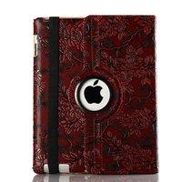 El envío gratuito 360 grados giran caso giratorio para Apple Ipad air2 Ipad6 casos, patrón De Uva A1566 piel protectora de la tableta shell