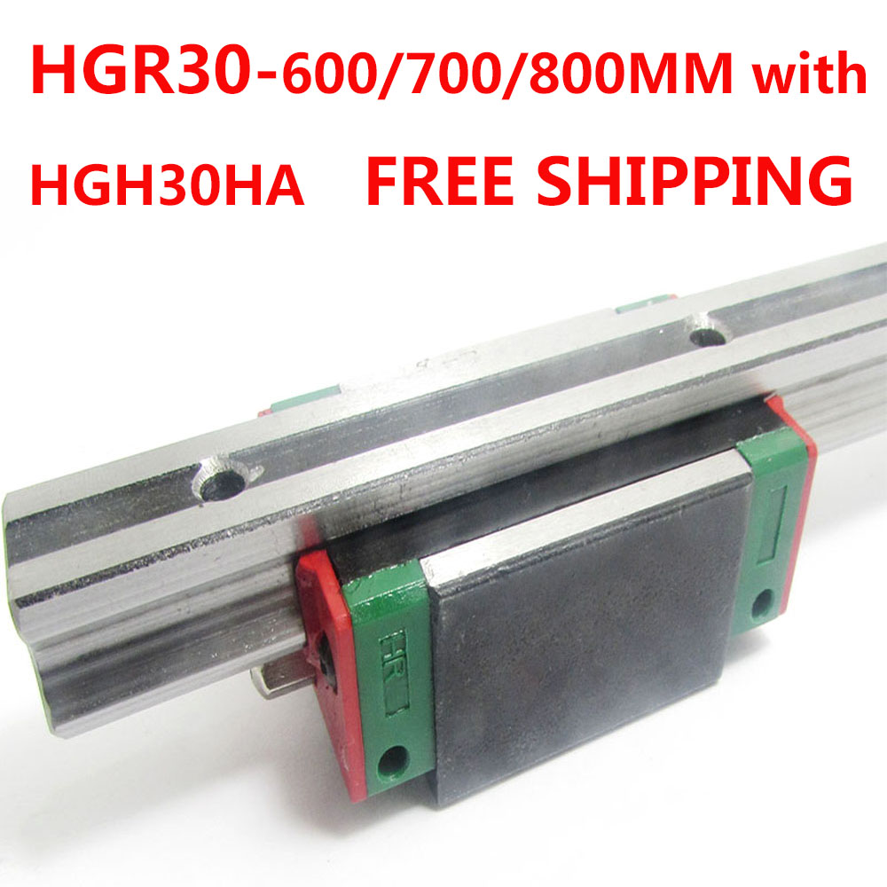 1PC free shipping HGR30 Linear Guide Width 30MM Length 600MM/700MM/800MM with 1PC HGH30HA Slider for cnc xyz axis large format printer spare parts wit color mutoh lecai locor xenons block slider qeh20ca linear guide slider 1pc