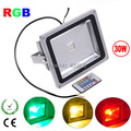 IP65 RGB LED floodlight remote control 10W 20W 30W 50W AC85-265V Waterproof outdoor LED Reflector Exterior lighting