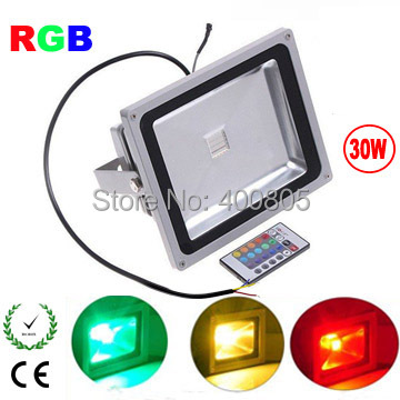 IP65 RGB LED floodlight remote control 10W 20W 30W 50W AC85-265V Waterproof outdoor LED Reflector Exterior lighting ...