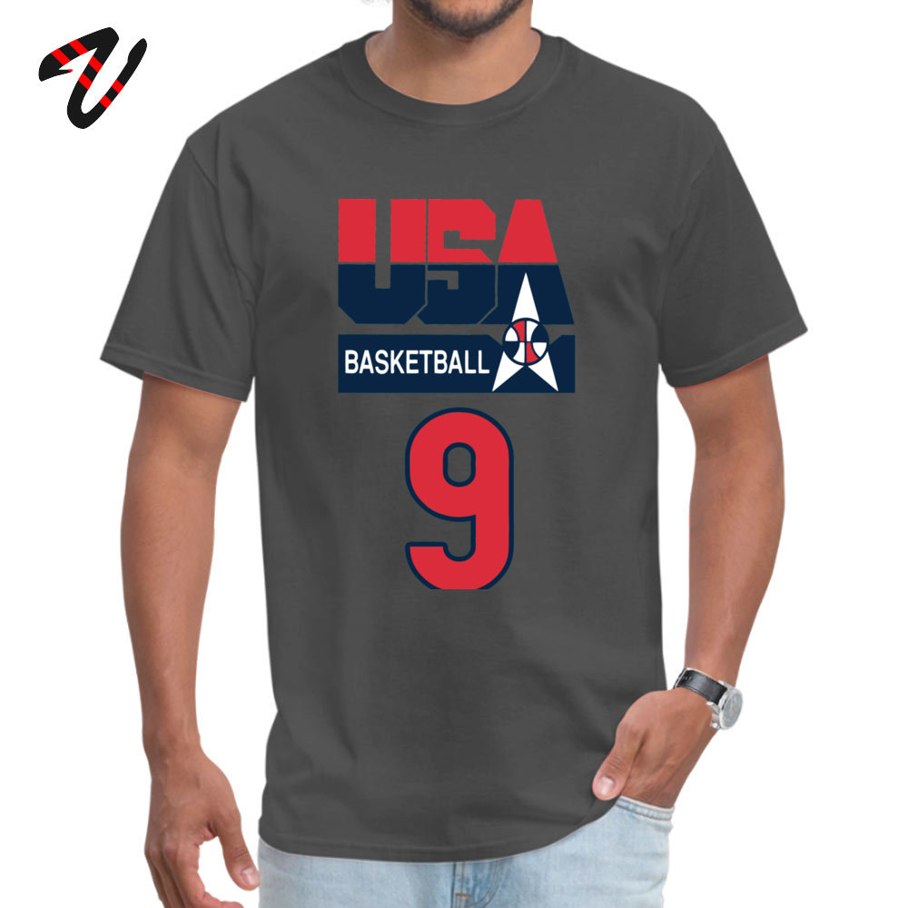 DREAM TEAM JORDAN Custom T Shirt Short Sleeve for Men All Cotton Summer/Fall O-Neck T Shirt Customized T Shirt Family DREAM TEAM JORDAN -4466 carbon