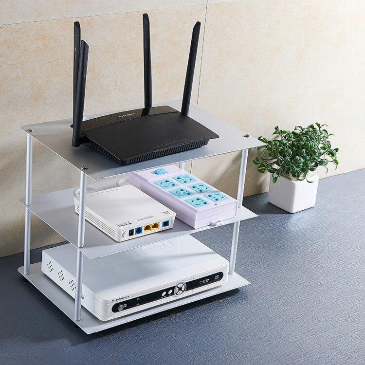 Trois couches routeur étagère stockage Rack espace aluminium sans fil WiFi support de stockage support Rack pour accessoires TV, Apple TV