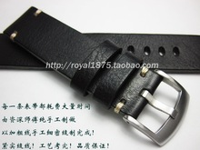 18 19 20 21 22 mm Retro Handmade Men Genuine Leather  Watch Band Straps High Quality Wristband Belt Bracelet For branded watch