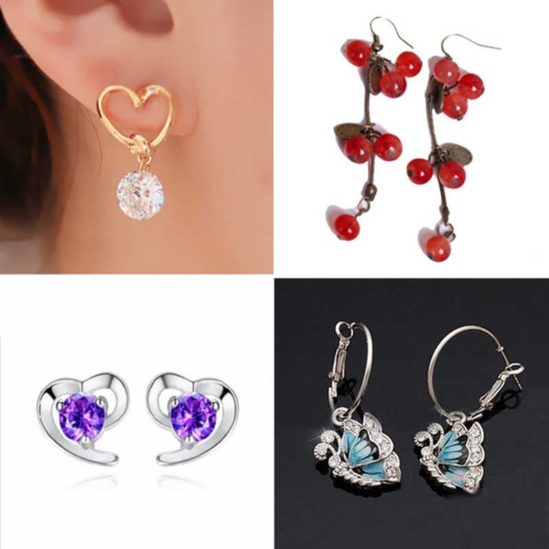 E071 2019 hot New gift stud earrings fashion earrings black bow crystal tie accessories wholesale jewelry for women