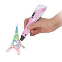 3D Pen LCD Screen DIY 3D Printing Pen 1.75mm PLA Filament 5V Creative Toy Gift For Kids Design Drawing Pens Education Tools