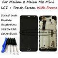 Black lcd + tp + quadro para meizu m2 meilan 2 meizu m2 mini Display LCD com Digitador Da Tela de Toque do Smartphone + Frete grátis ferramentas