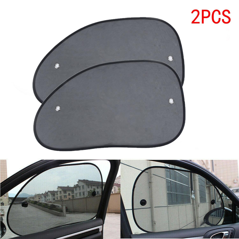 2 x Baby Car Window Sun Shades Stopper Black Mesh Blinds Visor Shield Cover Dog