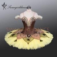 الأصفر المهنية طبق توتو الباليه الكلاسيكي توتو زي طفل dancewear توتو dressesBT9084 البالغين