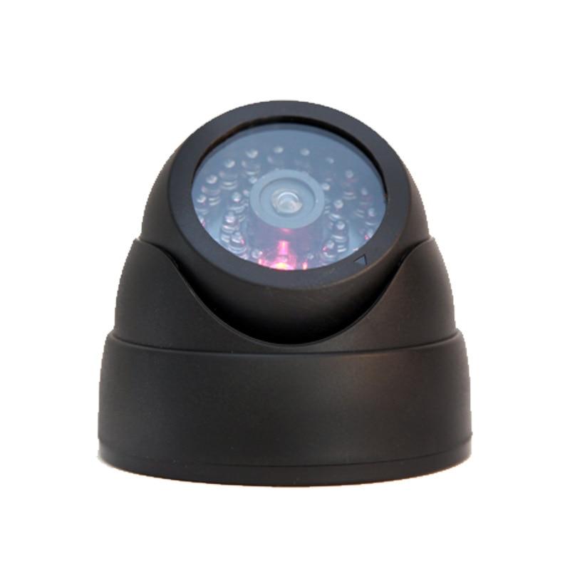 Dummy Dome Fake Security Camera CCTV  False IR LED W/ Flashing Red LED Light white black dummy camera fake dome cctv camera indoor outdoor red led flashing light for home security for christmas