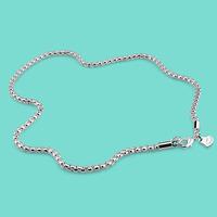 3 Mm Sterling Silver Necklace 925 Silver Necklace Men Classic Zygote Necklace Fashion Silver Ornaments A