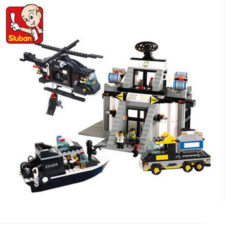 Sluban 876pcs Building Blocks Riot Police Series DIY Science & Technology Center Educational Toys For Children системный блок jincheng science and technology i54590 gt750 diy