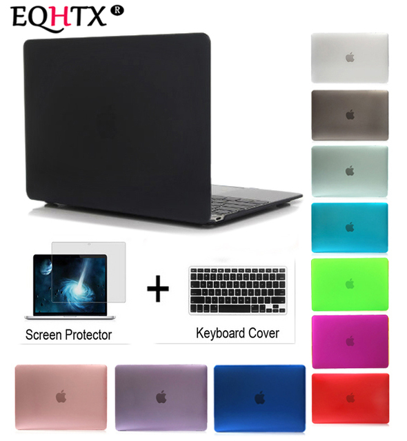 Laptop Case For Apple MacBook Air Pro Retina 11 12 13 15 ,for mac book New Air 13 Pro 13 15 inch with Touch Bar+ Keyboard Cover