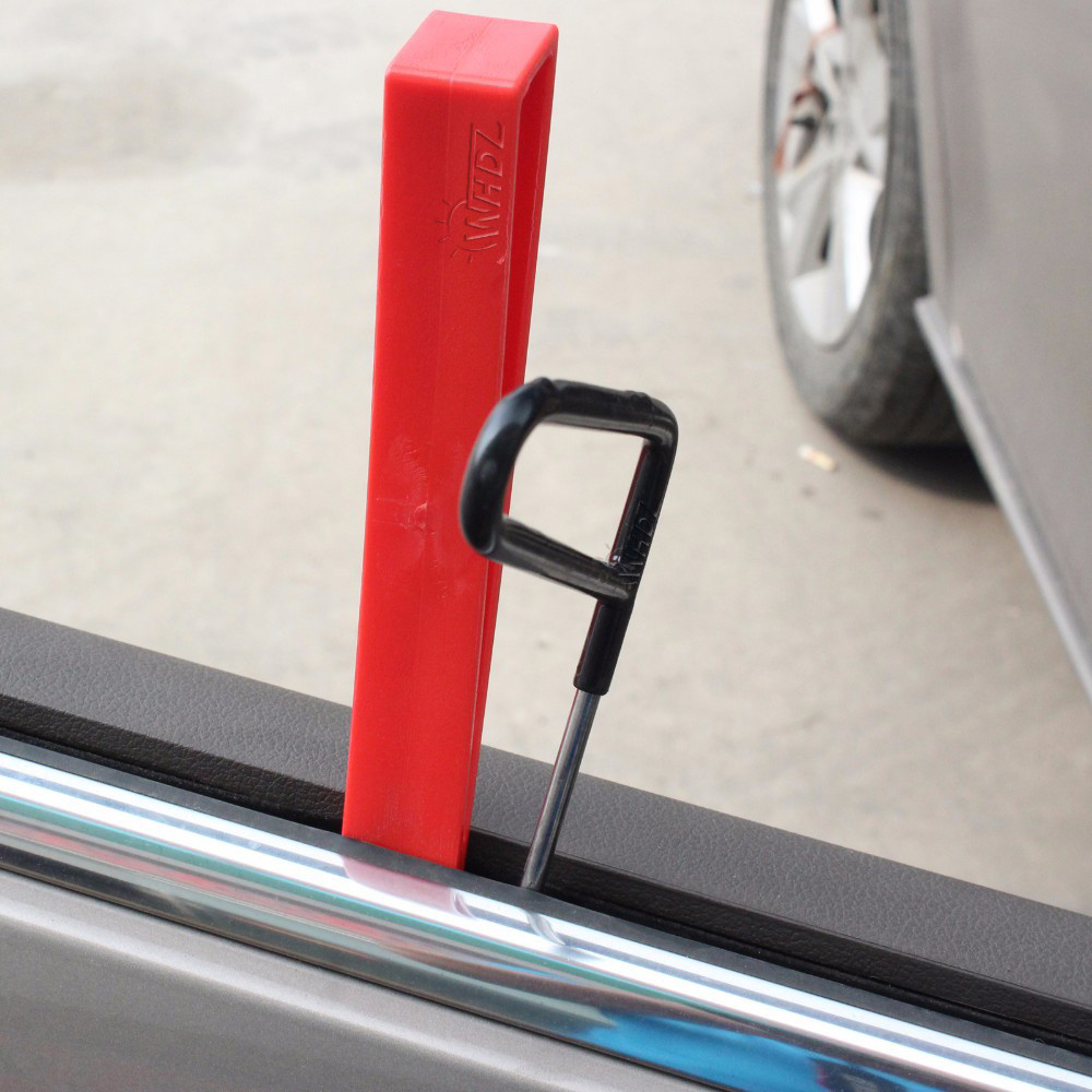 ROSEBEAR Car Door Window Wedge Panel Paintless Dent Removal Repair Tool Red