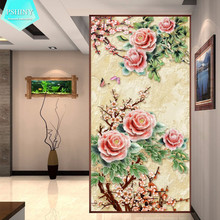 100% Pictures DIY Diamond embroidery Plum Blossom flower home decor full round or square rhinestone painting cross stich