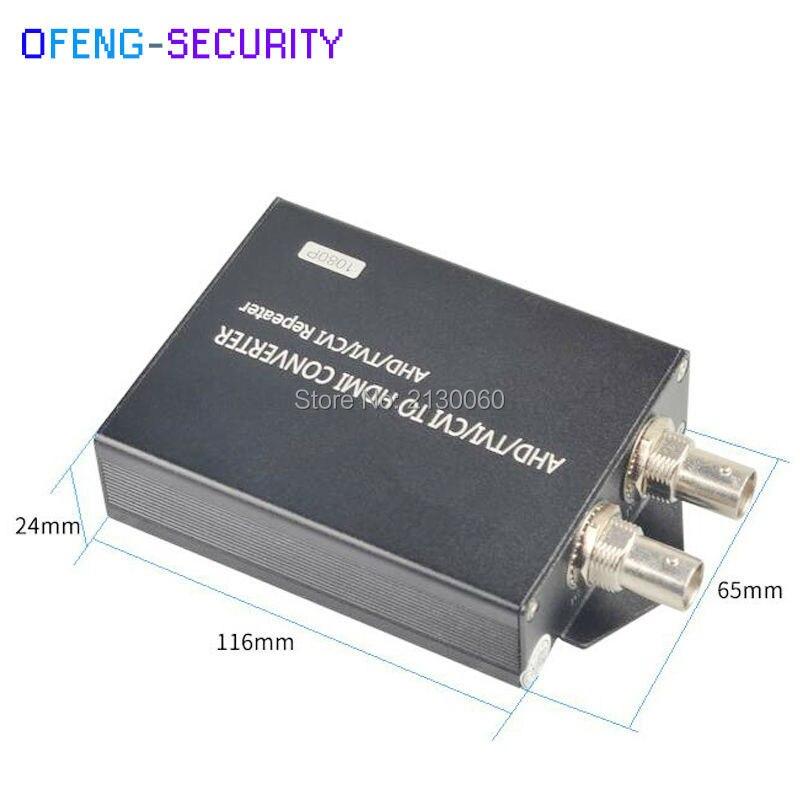 5pcs/lot Ahd To Hdmi Converter, AHD/CVI/TVI To HDMI Converter With 1ch LOOP , Video Converter, 1080p, AHD/CVI/TVI Repeater
