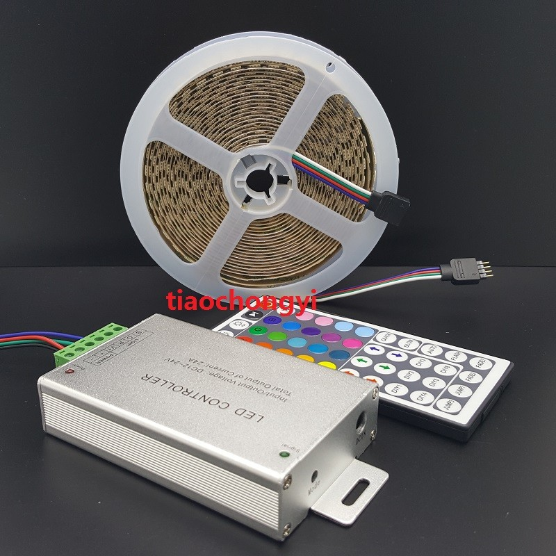 DC12V 5M 5050 RGB 600LED LED Strip light non waterproof IP20 + 24A 44key IR Remote Controller|LED Strips| |  - title=