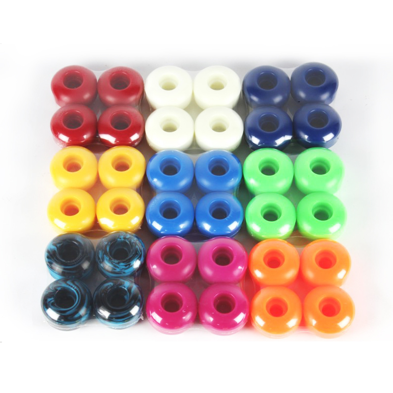 Free Shipping 95A Wheels 4pcs Skateboard Wheels Double Rocker Wheels 52*32mm PU Downspeed Sliding Wheels Skateboard Parts