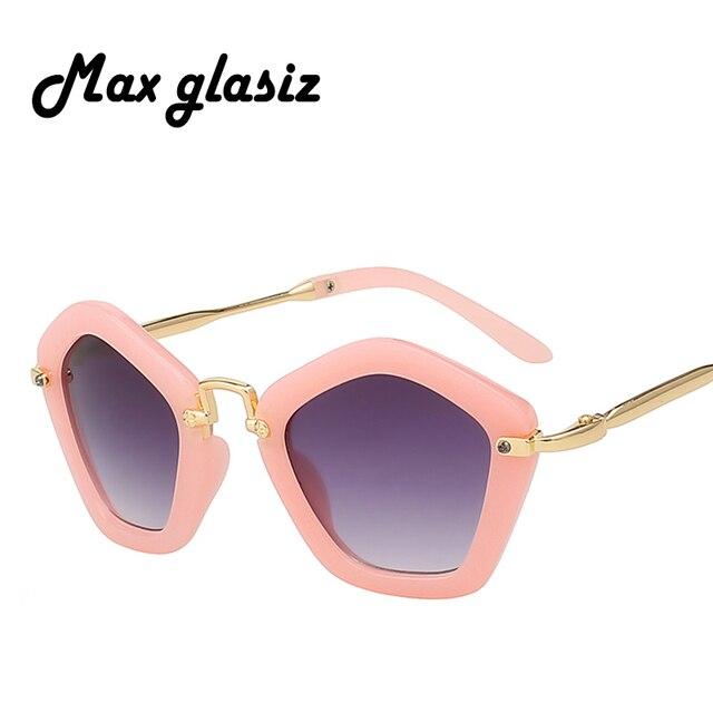 d96708e59ecf1 Novo 2018 Moda óculos de Sol Das Crianças óculos de armação de metal do  vintage super