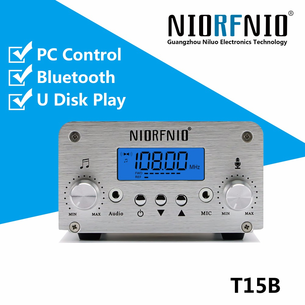 Free Shipping New Product T15B-1 0-15 Watt Stereo Professional FM Radio Transmitter with PC Control and BluetoothFree Shipping New Product T15B-1 0-15 Watt Stereo Professional FM Radio Transmitter with PC Control and Bluetooth