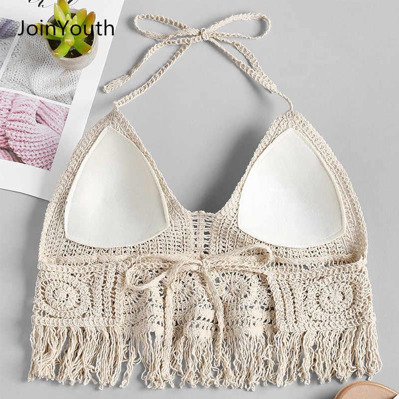 Lady's Joinyouth Women's Top Crochet Tank Crop Bohemian Style Beach Camis Tops Bralette Padded Club tsQrCxhd