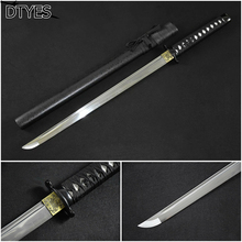 Black Ninja Swords Samurai Katana Samurai Japanese Sword 1095 Handmade Espada Ninja Japanese Sword Tsuba Afiada Espada Samurai