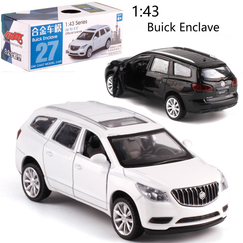 CAIPO 1:43 Buick Enclave Alloy Pull-back Vehicle Model Diecast Metal Model Car For Boy Toy Collection Friend Children Gift