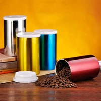 Portable Thicker Coffee Sealed Cans Professional One Way Vent Holes Keep Fresh Storage Tank