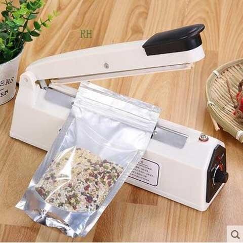 Máquina de selagem de alimentos pode secar fresco congelado padaria embalagem aferidor sacos selagem eletrodomésticos vedação largura 5mm