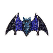 Young Tulip Creative Rhinestone Bat Brooches for Women Anima